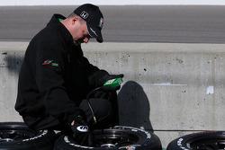 An AGR crew member doing prep work