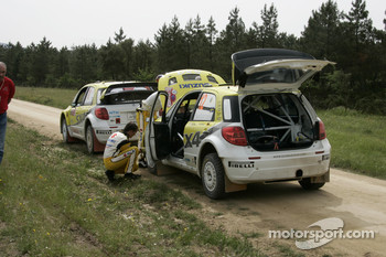 Per-Gunnar Andersson and Jonas Andersson, Suzuki World Rally Team, Suzuki SX4