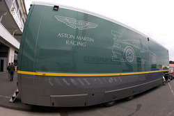 Aston Martin Racing transporter