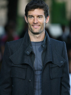 Mark Webber, Red Bull Racing Amber Fashion which benefits the  Elton John Aids Foundation