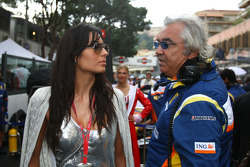 Elisabetta Gregoraci, Wife of Flavio Briatore with Flavio Briatore, Renault F1 Team, Team Chief, Managing Director