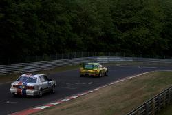 #20 Derichs Rennwagen e.V. Audi V8 D11: Keith Ahlers, Manfred Kubik, Helmut Undorf, Erwin Derichs, #1 Manthey Racing Porsche 911 GT3 RSR: Timo Bernhard, Marc Lieb, Romain Dumas, Marcel Tiemann