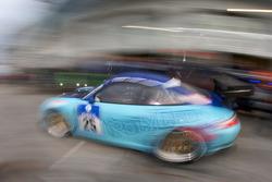 Pit stop for #25 Manthey Racing Porsche 911 GT3: Bert Lambrecht, Jean-François Hemroulle, Lance David Arnold
