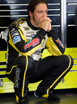 Paul Menard in the garage