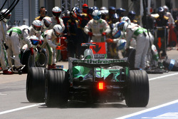 Jenson Button, Honda Racing F1 Team during pitstop