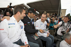 Nicolas Minassian, Marc Gene and Jacques Villeneuve
