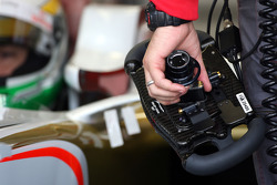 Giancarlo Fisichella, Force India F1 Team, steering wheel