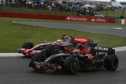 Lewis Hamilton, McLaren Mercedes, MP4-23 and Sébastien Bourdais, Scuderia Toro Rosso, STR03