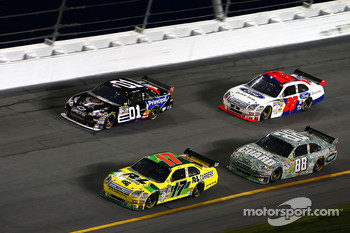 Matt Kenseth, Dale Earnhardt Jr., Regan Smith and Travis Kvapil