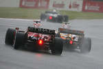 Kimi Raikkonen, Scuderia Ferrari, F2008 and Nelson A. Piquet, Renault F1 Team, R28