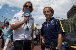 Alain Prost, Renault e.Dams with the media