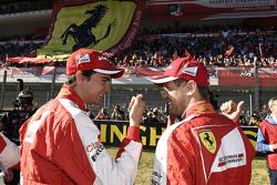 Sebastian Vettel, Ferrari and and Esteban Gutierrez, Ferrari Test and Reserve Driver