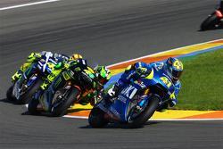 Aleix Espargaro, Team Suzuki MotoGP and Pol Espargaro, Tech 3 Yamaha and Valentino Rossi, Yamaha Factory Racing