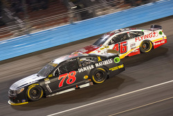 Martin Truex Jr., Furniture Row Racing Chevrolet and Michael Annett, Hscott Motorsports Chevrolet