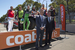 Stadium Super Trucks driver Paul Morris, V8 Supercars driver David Reynolds, Wests Tigers' Aaron Woods, GWS GIANTS' Shane Mumford and Sydney Thunder's Shane Watson