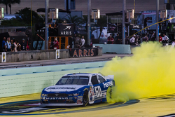 NASCAR XFINITY Series 2015 champion Chris Buescher, Roush Fenway Racing Ford celebratres
