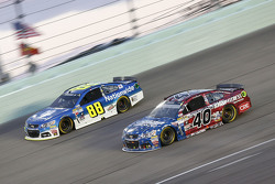 Dale Earnhardt Jr., Hendrick Motorsports Chevrolet and Landon Cassill, Hillman Circle Sport LLC Chevrolet