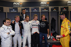 Felipe Massa, David Coulthard, Pascal Wehrlein, Jenson Button, Nico Hulkenberg, ROC founder Fredrik Johnsson, Ryan Hunter-Reay