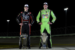 NASCAR Sprint Cup Series champion Kyle Busch and NASCAR Truck Series champion Erik Jones