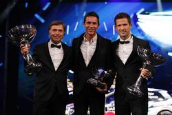 Sébastien Ogier with Julien Ingrassia, Volkswagen Motorsport and Jost Capito, head of Volkswagen Motorsport
