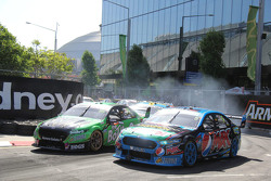 Mark Winterbottom, Prodrive Racing Australia Ford and David Reynolds, Rod Nash Racing Ford