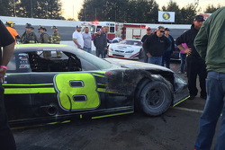 The burnt car of John Hunter Nemechek