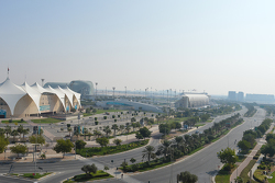 A view of the Yas Marina complex