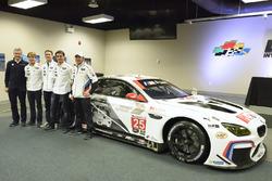 Jens Marquardt, BMW Motorsport Director, Augusto Farfus, Dirk Werner, Bruno Spengler, Bill Auberlen with the 100th anniversary BMW M6 GTLM livery