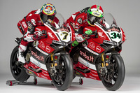 World Superbike Photos - Davide Giuliano and Chaz Davies, Team Aruba.it