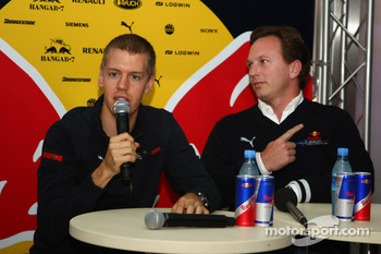 Sebastian Vettel, Scuderia Toro Rosso and Christian Horner, Red Bull Racing, Sporting Director