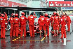 Pit Stop practise at Ferrari