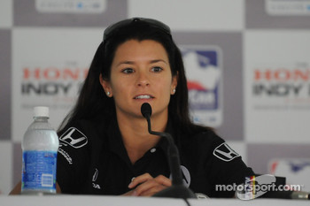 Danica Patrick during the morning press conference