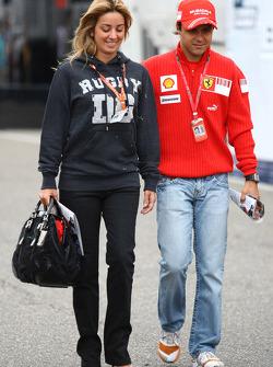 Rafaela Bassi, Girl Friend, Wife of Felipe Massa with Felipe Massa, Scuderia Ferrari