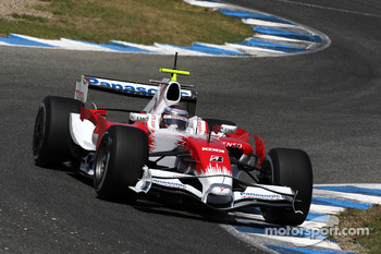 Jarno Trulli, Toyota Racing, TF108, on slick tyres