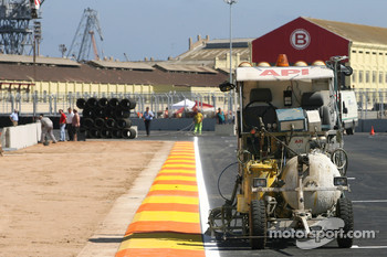 Work in progres, main straight