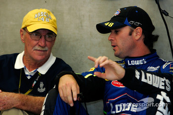 Jimmie Johnson talks with Jim Hunter