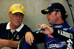 Jimmie Johnson talks with Jim Hunter