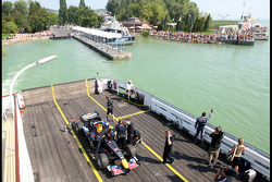 Red Bull demonstration, Lake Balaton, Sebastien Buemi, Test Driver, Red Bull Racing