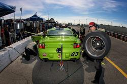 Pit stop for #83 BGB Motorsports Porsche 997: Jon Miller, Craig Stanton