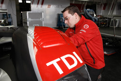 Audi Sport Team Joest team member at work