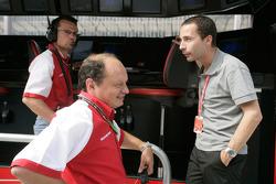 Frederic Vasseur and Nicolas Todt, ART Grand Prix Team Principals
