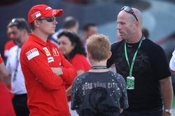 Kimi Raikkonen, Scuderia Ferrari and Randy Mamola