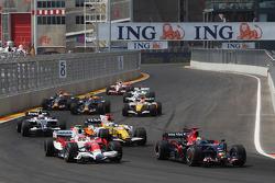 Sébastien Bourdais, Scuderia Toro Rosso, STR03 and Timo Glock, Toyota F1 Team, TF108