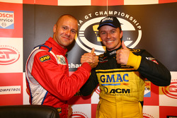GT2 pole winner Gianmaria Bruni and GT1 pole winner Marcel Fassler