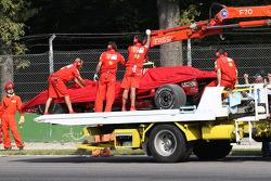 Scuderia Ferrari, F2008 back on tow truck
