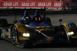 #26 Andretti Green Racing Acura ARX-01B: Franck Montagny, James Rossiter on their victory lap