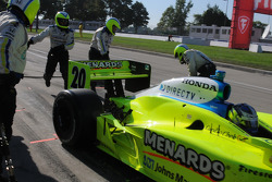 Ed Carpenter leaving the pits