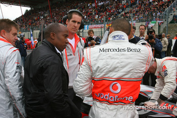 Anthony Hamilton, Father of Lewis Hamilton with Lewis Hamilton, McLaren Mercedes