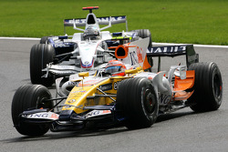 Nelson A. Piquet, Renault F1 Team, Nick Heidfeld, BMW Sauber F1 Team