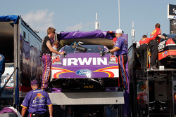 The #26 crew load up the car following the race